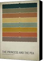 Color Canvas Prints - The Princess and the Pea Canvas Print by Christian Jackson