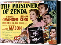 1950s Poster Art Canvas Prints - The Prisoner Of Zenda, Deborah Kerr Canvas Print by Everett