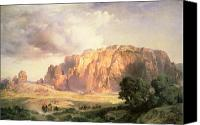 Thomas Moran Canvas Prints - The Pueblo of Acoma in New Mexico Canvas Print by Thomas Moran