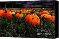 Creepy Canvas Prints - The Pumpkin Patch . When Nobody Is Looking Canvas Print by Wingsdomain Art and Photography