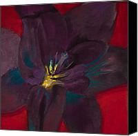 Lavender Pastels Canvas Prints - The Purple Lily Canvas Print by David Patterson
