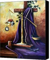 Justice Painting Canvas Prints - The Purple Robe Canvas Print by Cynara Shelton