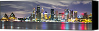 Sydney Skyline Canvas Prints - The Quay Canvas Print by Mark Lucey
