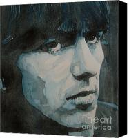 George Harrison Canvas Prints - The quiet one Canvas Print by Paul Lovering
