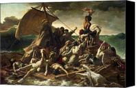 Shipwreck Painting Canvas Prints - The Raft of the Medusa Canvas Print by Theodore Gericault