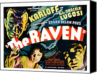 Horror Movies Canvas Prints - The Raven, From Left Boris Karloff Canvas Print by Everett