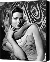 1946 Movies Canvas Prints - The Razors Edge, Gene Tierney, 1946 Canvas Print by Everett
