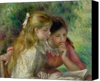 Reading Painting Canvas Prints - The Reading Canvas Print by Pierre Auguste Renoir