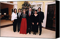 First Ladies Canvas Prints - The Reagan Family Christmas Portrait Canvas Print by Everett