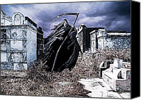 James Griffin Canvas Prints - The Reaper Haunts The Old Cemetery Canvas Print by James Griffin
