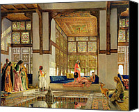 Orientalist Canvas Prints - The Reception Canvas Print by John Frederick Lewis