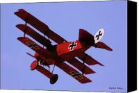 Camel Digital Art Canvas Prints - The Red Baron II Canvas Print by DigiArt Diaries by Vicky Browning