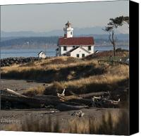 Point Wilson Lighthouse Canvas Prints - The Red Roof Lighthouse Canvas Print by Chad Davis