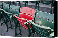 Fenway Park Canvas Prints - The Red Seat Canvas Print by Joseph Maldonado