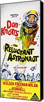 1960s Poster Art Canvas Prints - The Reluctant Astronaut, Upper Right Canvas Print by Everett