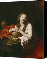 Magdalene Canvas Prints - The Repentant Magdalene Canvas Print by Nicolas Regnier