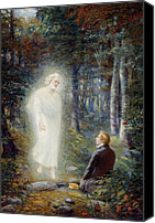 Angel Moroni Canvas Prints - The Restoration Canvas Print by Lewis A Ramsey