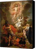 Virgin Mary Painting Canvas Prints - The Resurrection of Christ Canvas Print by Noel Coypel