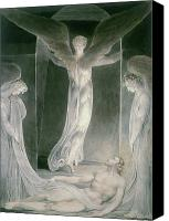 William Drawings Canvas Prints - The Resurrection Canvas Print by William Blake