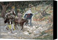 Donkey Painting Canvas Prints - The Return from Egypt Canvas Print by Tissot