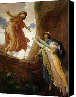 Greece Painting Canvas Prints - The Return of Persephone Canvas Print by Frederic Leighton