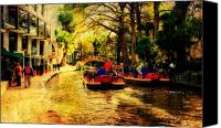 Riverwalk Canvas Prints - The Ride Canvas Print by Iris Greenwell