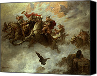 Barbarian Canvas Prints - The Ride of the Valkyries  Canvas Print by William T Maud