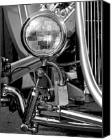 Monochrome Hot Rod Canvas Prints - The Right Light Canvas Print by John Herzog
