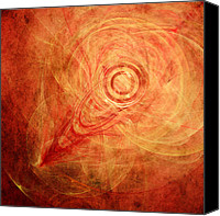 Circle Digital Art Canvas Prints - The Rings of Fire Canvas Print by Scott Norris