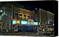 Photographers Atlanta Canvas Prints - The Riveria Theater Canvas Print by Corky Willis Atlanta Photography