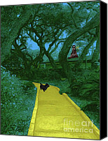 Toto Canvas Prints - The Road To Oz Canvas Print by Methune Hively
