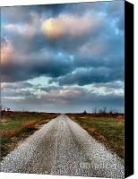 Julie Dant Canvas Prints - The Road to Somewhere Canvas Print by Julie Dant