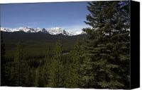 Mountain View Canvas Prints - The Rocky Mountains Provide A Great Canvas Print by Stephen Alvarez