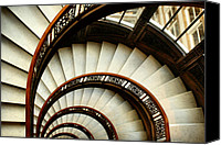 Spiral Staircase Canvas Prints - The Rookery Spiral Staircase Canvas Print by Ely Arsha