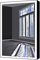 Susan Leggett Digital Art Canvas Prints - The Room Canvas Print by Susan Leggett