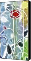 Abstract Organic Canvas Prints - The Rose Canvas Print by Ann Croon