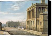 Parade Painting Canvas Prints - The Royal Crescent Canvas Print by David Cox