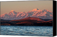 Sunset Canvas Prints - The royal mountains and Lake Titicaca. Republic of Bolivia. Canvas Print by Eric Bauer
