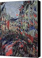 Parade Painting Canvas Prints - The Rue Saint Denis Canvas Print by Claude Monet