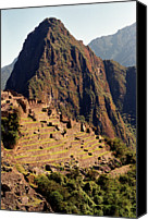 Ruin Photo Canvas Prints - The Ruins Of Machu Picchu, Peru, Latin America Canvas Print by Brian Caissie