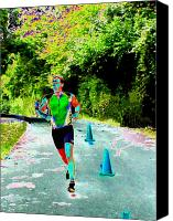 Athletic Digital Art Canvas Prints - The Runner Canvas Print by Peter  McIntosh