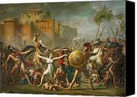 Rape Canvas Prints - The Sabine Women Canvas Print by Jacques Louis David