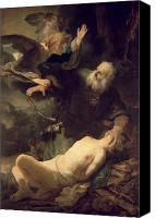 Isaac Canvas Prints - The Sacrifice of Abraham Canvas Print by Rembrandt