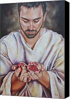 Ilse Kleyn Painting Canvas Prints - The sacrifice of Jesus Canvas Print by Ilse Kleyn