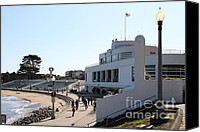 Jogging Canvas Prints - The Sala Burton Building . Maritime Museum . San Francisco California . 7D13993 Canvas Print by Wingsdomain Art and Photography