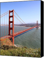 Structural Canvas Prints - The San Francisco Golden Gate Bridge . 7D14504 Canvas Print by Wingsdomain Art and Photography