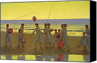 Parade Painting Canvas Prints - The Sand Bar  Canvas Print by Thomas Cooper Gotch