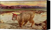 Goat Canvas Prints - The Scapegoat Canvas Print by William Holman Hunt