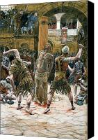 Tissot Canvas Prints - The Scourging Canvas Print by Tissot