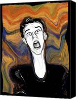 Distortion Canvas Prints - The Scream Canvas Print by Russell Pierce